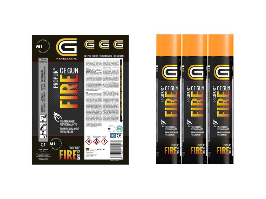 Propur Fire -etikettisuunnittelu, CG Professional