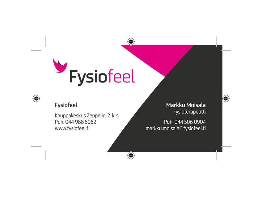 Käyntikorttien suunnittelu, Fysiofeel
