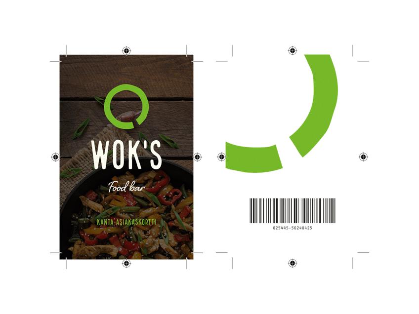 Kanta-asiakaskortin suunnittelu, Wok's